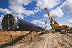 Volvo's rotating pipelayers utilised to allow first time gas flow