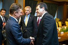 Miller and Sefcovic address issues of reliable gas supply to European consumers