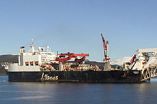 Solitaire pipelaying vessel commences first stage of installation project