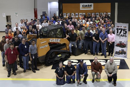 CASE produces milestone compact track loader