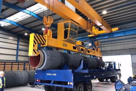 Concrete weight coating begins for Nord Stream 2 pipes