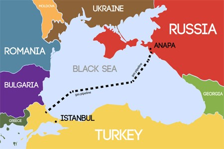 Half of the TurkStream offshore gas pipeline has been installed