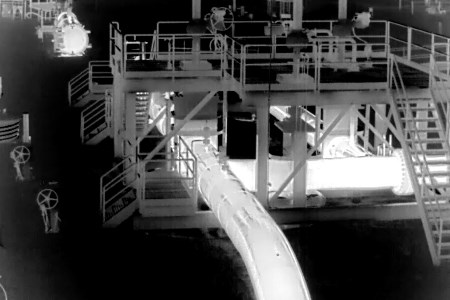 Pipeline leak detection based on thermal imaging