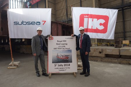Subsea 7 celebrates build milestone and announces vessel name