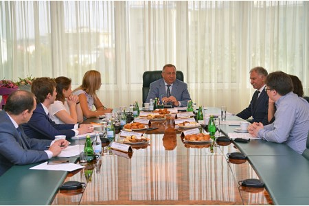 Transneft's President Nikolay Tokarev meets journalists