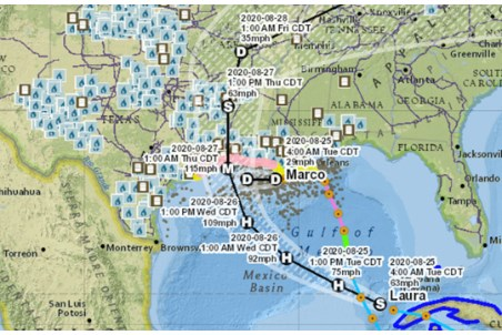 EIA's mapping system shows energy infrastructure at risk from hurricanes and wildfires